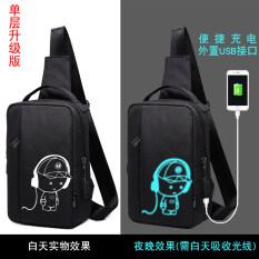 ซื้อ กระเป๋าหน้าอกที่เดินทางมาพักผ่อนถุง Messenger ใหม่ของผู้ชายกีฬา ชั้นเดียว Yeguang เพลง Xiaozai หมวกรุ่นอัพเกรด ใหม่ล่าสุด