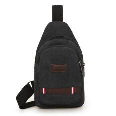 ราคา ขนาดเล็กกระเป๋าเป้สะพายหลังเกาหลีกระเป๋าสะพายผ้าใบกีฬาแนวทแยง สีดำ Duomeilun ออนไลน์