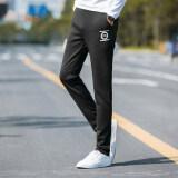 ราคา กางเกงกีฬาลำลองฤดูใบไม้ร่วงกางเกง Wei ส่วนบางผอม วงกลม สีดำ ราคาถูกที่สุด