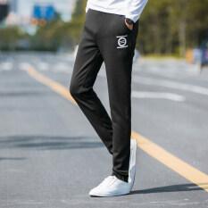 ขาย กางเกงกีฬาลำลองฤดูใบไม้ร่วงกางเกง Wei ส่วนบางผอม วงกลม สีดำ ออนไลน์ Thailand