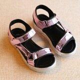ซื้อ เป็นเด็กเพศหญิงแฟชั่นรองเท้าแตะส่องตะขอแบนรองเท้าแกลดิเอเตอร์ร้อนสีชมพู I91 ใน จีน