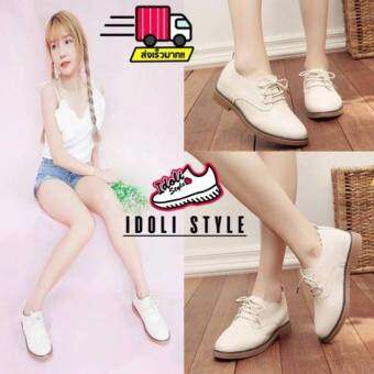 Idoli Style รองเท้าหุ้มส้น รองเท้าหุ้มส้นผูกเชือกพร้อมส่งในไทย