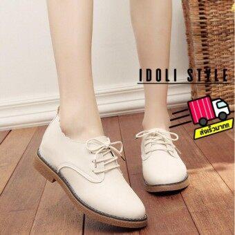Idoli Style รองเท้าหุ้มส้น รองเท้าหุ้มส้นผูกเชือก รองเท้าแฟชั่น