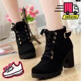 ซื้อ Idoli Style รองเท้าบุทหญิง รองเท้าหุ้มข้อสไตล์เกาหลี