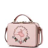 ซื้อ Imported Just Star High Quality Faux Leather Purse Baguette Organizer Embroidery Shoulder Messenger Hand Bag New Pink ใหม่