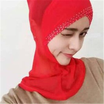 (Imported)BEST-FHT 2017 Chiffon Muslim Head Scarf Hijab Breath Comfortable and Beautiful Veil Brides - intl