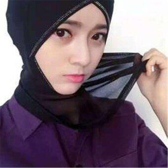 (นำเข้า) BEST-TSH ชีฟองผ้าคลุมศีรษะศีรษะมุสลิมศีรษะฮิญาบสูดลมหายใจสามารถระบายอากาศได้สบายและสวยงามปกคลุม Brides