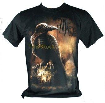 เสื้อวง IN FLAMES เสื้อยืดวงดนตรีร็อค เมทัล เสื้อร็อคIFM1163 ส่งจากไทย