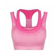 ราคา Isassy Sports Bra สปอตบรา สำหรับ ออกกำลังกาย สีชมพู Isassy เป็นต้นฉบับ