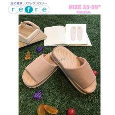 โปรโมชั่น Itemรองเท้าเพื่อสุขภาพ ใส่เดินในบ้าน พื้นหนา สีชมพูอ่อน Size M 35 39 ถูก