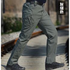 ซื้อ กลางแจ้งสลิมยุทธวิธีกางเกงกางเกงขายาว Ix9 สีเทาสีเขียว ถูก