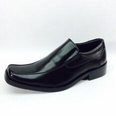 โปรโมชั่น J Choo รองเท้าคัดชูสหนังแท้ รองเท้าหนังแท้ แฟชั่น ผู้ชาย Leather Men Shoes สีดำ J Choo