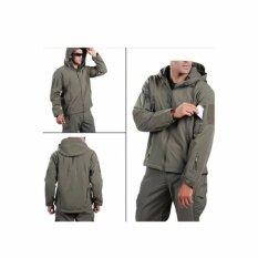 โปรโมชั่น เสื้อ Jacket กันหนาว อบอุ่น ไม่ร้อน ใส่สบาย กันน้ำผิวฉลาม Shark Skin สีเทา Shark Skin ใหม่ล่าสุด