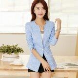 ราคา หญิงชุดสูทเวอร์ชั่นเกาหลีหญิงเสื้อกันหนาว Jacquard ใหม่ที่บางเฉียบ สีน้ำเงินอยู่ใต้น้ำ ใหม่ ถูก