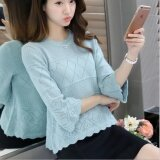 ขาย ซื้อ Je Fe Korean Fashion Loose Base Sweater Blue Intl