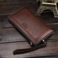 JEEP BULUO Men s Handbag Long Leather Zipper Wallet Business Unisex Cluth  Purse - intl 2f8ebb1f8776d