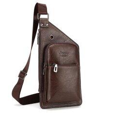 ราคา Jeep Men S Chest Bag Leisure Shoulder Bag Youth Boy Fashion Messenger Bag Brown Intl ออนไลน์