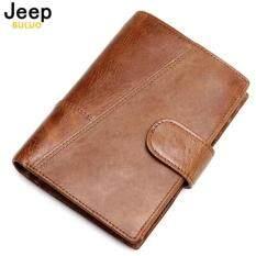 ซื้อ Jeep แบรนด์หนังวัวแท้กระเป๋าสตางค์แฟชั่นกระเป๋า Trifold ออกแบบกระเป๋าคุณภาพสูงผู้หญิงบัตร 8230 ถูก จีน