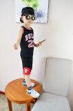 ซื้อ เสื้อผ้าเด็กฤดูร้อนเด็กชายและเด็กหญิงเสื้อผ้าบาสเกตบอล Jh23 ฉบับที่รองเท้าบาสเสื้อผ้าสีดำ ฮ่องกง