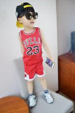 ซื้อ เสื้อผ้าเด็กฤดูร้อนเด็กชายและเด็กหญิงเสื้อผ้าบาสเกตบอล Jh23 ฉบับที่รองเท้าบาสเสื้อผ้าสีแดง Other ถูก