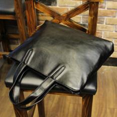 ทบทวน ที่สุด ง่ายผู้ชายคอมพิวเตอร์ธุรกิจกระเป๋าถือกระเป๋าชายกระเป๋า สีดำ