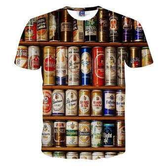 โปรโมชั่น Jiayiqi Men's Fashion 3D Print T-shirt Summer Sport Short Sleeve