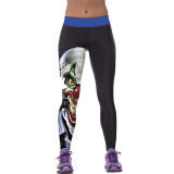 Jiayiqi Pencil Pants 3D Hero Clown Printed Fitness Gym Yoga Leggings Intl จีน