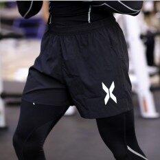 ขาย กางเกงวิ่งขาสั้นผู้ชายMusclebro แห้งเร็ว สีดำ สีดำ สีดำ ใหม่