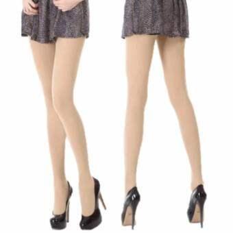 JJ ถุงน่องและเลกกิ้งเพื่อสุขภาพ กางเกงขาเรียว เก็บสะโพก จากเกาหลี -Flesh color