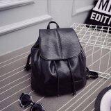 ขาย ซื้อ ออนไลน์ Jj กระเป๋าเป้สะพายหลัง ผู้หญิง กระเป๋าเป้เกาหลี กระเป๋าเป้หนัง รุ่น St 12676 สีดำ