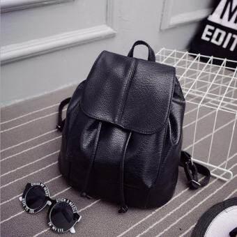JJ กระเป๋าสะพายหลัง กระเป๋าเป้ กระเป๋าแฟชั่นผู้หญิง รุ่น MM12676 (สีดำ)