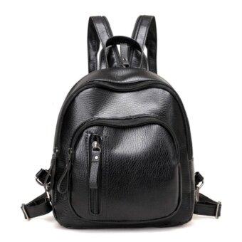 JJ กระเป๋าสะพายหลัง กระเป๋าเป้ กระเป๋าแฟชั่นผู้หญิง รุ่น MM136 (สีดำ)