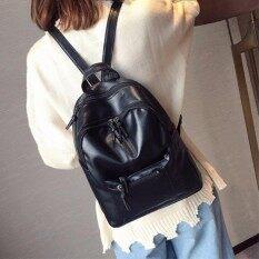 ราคา Jj กระเป๋าเป้สะพายหลังหนังใหม่ สไตล์เกาหลี รุ่น Mm6108 สีดำ ใหม่ล่าสุด