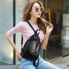 ซื้อ Jj ระเป๋าสะพายหลัง กระเป๋าแฟชั่นผู้หญิง สไตล์เกาหลี รุ่น Mm6205 สีดำ Jj ถูก