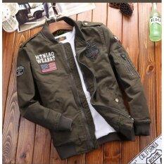โปรโมชั่น เสื้อแจ็คเก็ตสไตล์เท่ห์ Jk23 Green Highvoltage