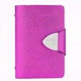 ความคิดเห็น Jo In Synthetic Leather Business Case Wallet Id Credit Card Holder Purse For 26 Cards Rosered