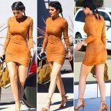 ส่วนลด สินค้า Jo In New Women Casual Suede S*xy Club Bodycon Package Hip Mini Dress Intl