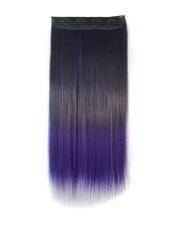 ขาย ซื้อ Jollychic Black Gradient Light Purple Woman Straight Hair Extensions Light Purple Intl ใน ฮ่องกง