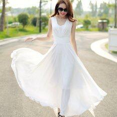 ซื้อ ความปิติยินดี Korea เกาหลีแฟชั่นโบฮีเมียชีฟองชุดชายหาด สีขาว นานาชาติ ออนไลน์ จีน