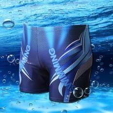 Joy Fashion Casual Men S Printing Large Size Swimming Trunks Blue Intl เป็นต้นฉบับ