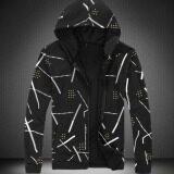 ทบทวน ที่สุด Joy Korea Korean Fashion Zipper Baseball Shirt Men S Print Jacket Black Intl Intl