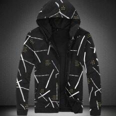 ซื้อ Joy Korea Korean Fashion Zipper Baseball Shirt Men S Print Jacket Black Intl Intl ถูก ใน จีน