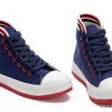 ราคา ่่่joyselect รองเท้าผ้าใบหุ้มข้อขอบแดงขาว8891 Thailand