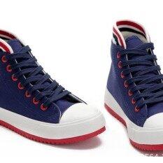 ราคา ่่่joyselect รองเท้าผ้าใบหุ้มข้อขอบแดงขาว8891 Generic ใหม่