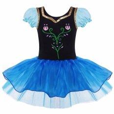 Js เด็กสาวบัลเล่ต์ตูชุดแขนสั้น Dancewear ยิมนาสติกกางเกงแนบเนื้อที่พวกเล่นละครสวมเครื่องแต่งกาย B019 ดำ นานาชาติ ใน Thailand