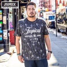 โปรโมชั่น Jsmix Big Plus Size Large M 7Xl Short Sleeved O Neck Printing Letter T Shirt Intl ถูก
