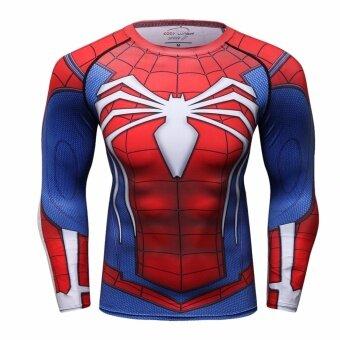 J. กีฬา Spiderman ซูเปอร์ฮีโร่เสื้อเชิ๊ตแขนยาวสำหรับกีฬา-CT200-นานาชาติ
