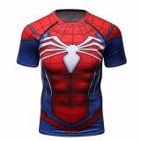 ขาย ซื้อ ออนไลน์ J Sports Spiderman Superhero Compression Shirt Short Sleeve For Sports Ct201 Intl