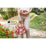 ขาย ซื้อ ออนไลน์ Judy S กระเป๋าเป้เล็กผ้าแคนวาส รุ่น Bps ลายดอกแดง