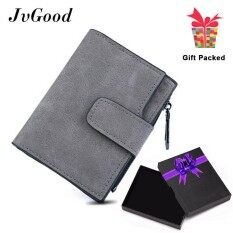 ราคา Jvgood Fashion Lady Womens Small Mini Blocking Clutch Leather Bi Fold Wallet Coin Purse Card Holder Organizer Hangbag Bag Short Wallet With Zipper Pocket Intl